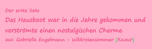 Der erste Satz - Engelmann, Gabriella - Wildrosensommer