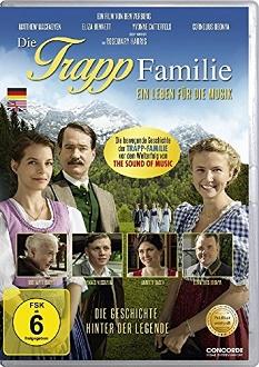 Die Trapp-Familie - Ein Leben für die Musik DVD-Cover - Concorde Home Entertainment