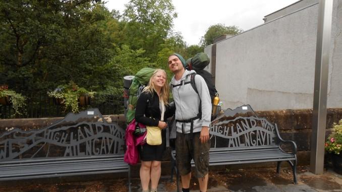 Die Autorin und ihr Ehemann in Milngavie