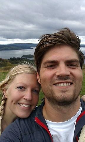 Die Autorin und ihr Ehemann auf dem Conic Hill