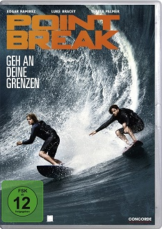 Point Break - Geh an deine Grenzen DVD-Cover - Concorde Home Entertainment