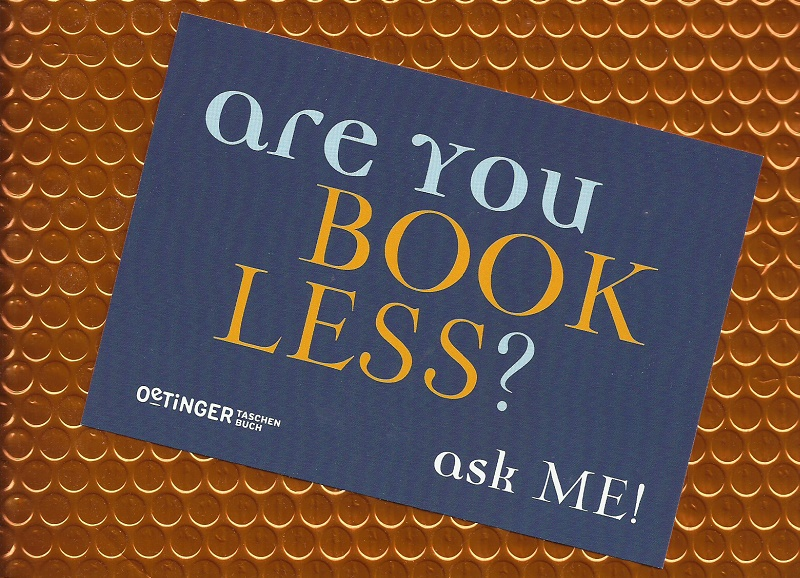 Slogan - Are you bookless - ask me