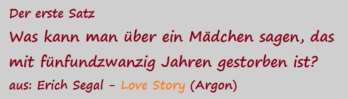 Der erste Satz - Segal, Erich - Love Story