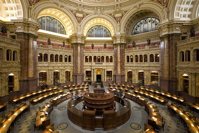 Der Lesesaal der Library of Congress
