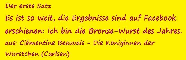 Der erste Satz - Beauvais, Clémentine - Die Königinnen der Würstchen