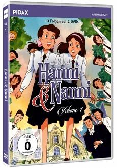 Hanni und Nanni Vol. 1 DVD-Cover - Pidax