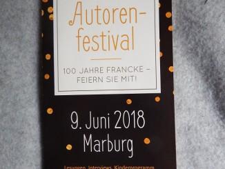 Francke Autorenfestival 2018 Einladung